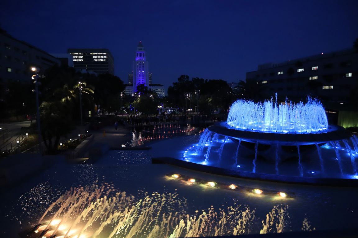 City Hall and fountain