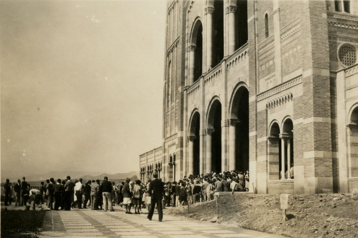 First assembly in Royce Hall Sept. 23, 1919.