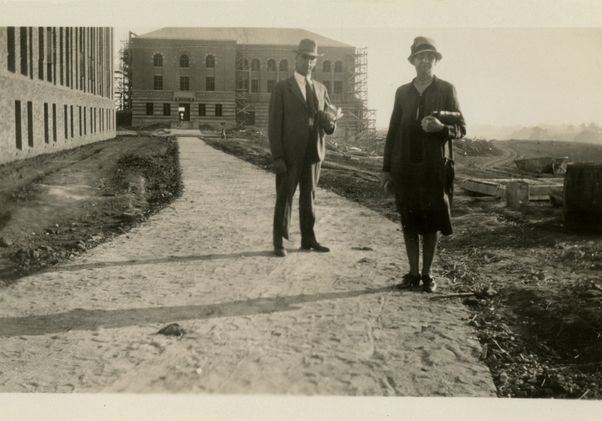 Moore Hall under construction 1929