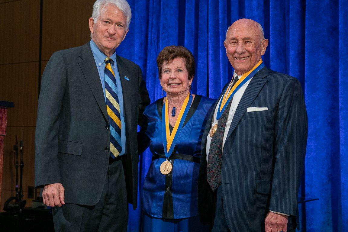 Gene Block and Renee and Meyer Luskin