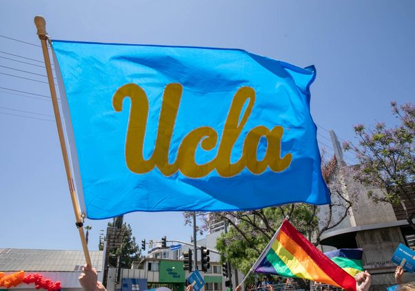 UCLA flag at LA Pride parade