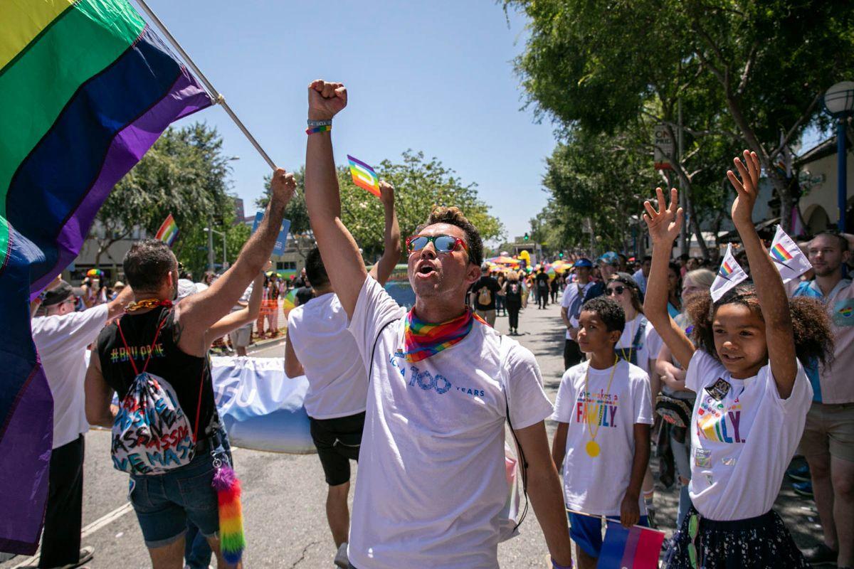 LA Pride 2019 crowd