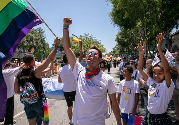 Click to open the large image: LA Pride 2019 crowd