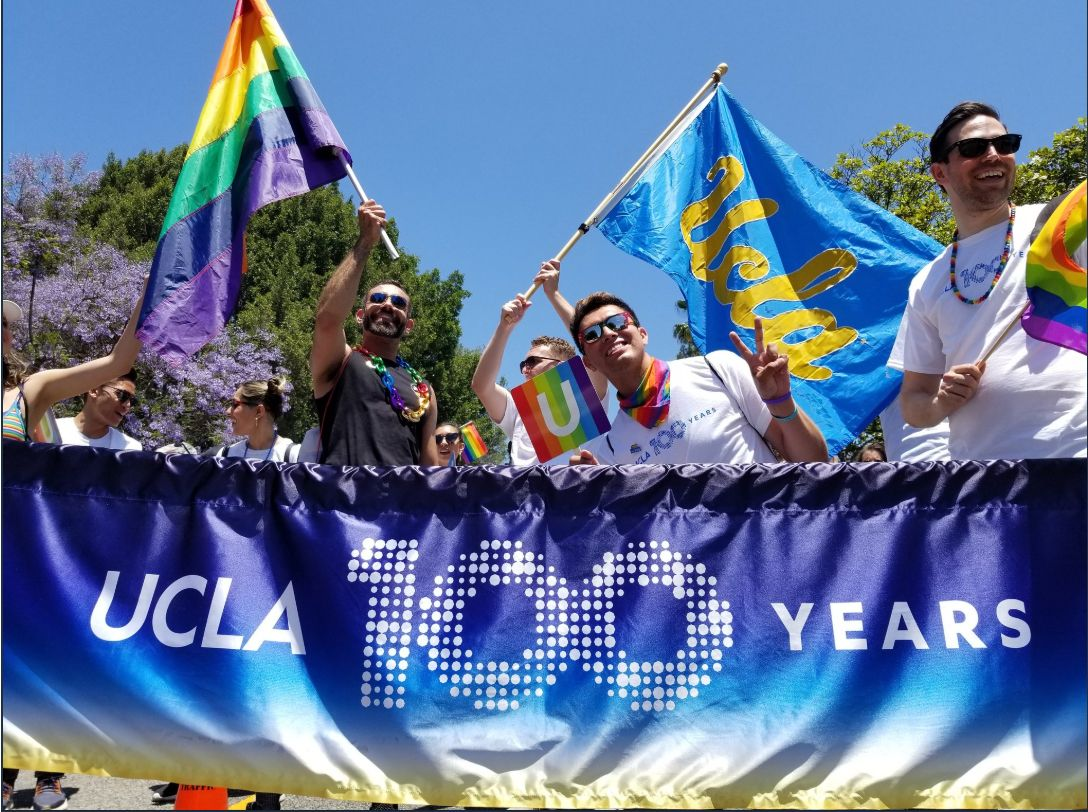 UCLA pride at LA Pride