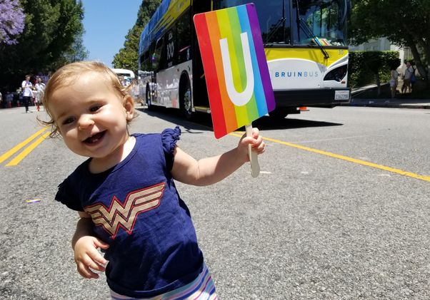 Click to open the large image: Celebrating UCLA 100 at LA Pride
