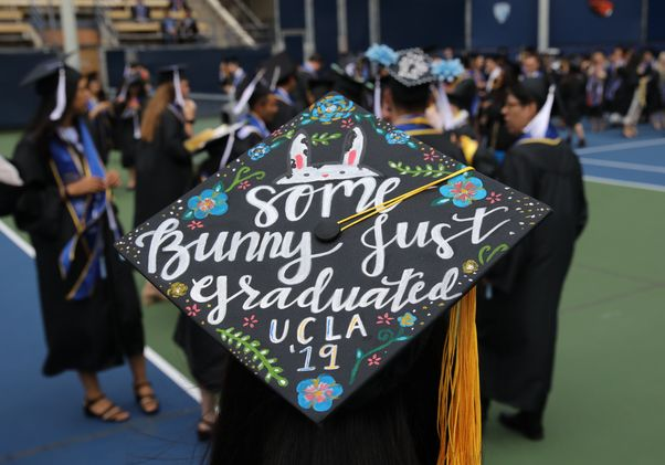 Mortarboard at 2019 commencement