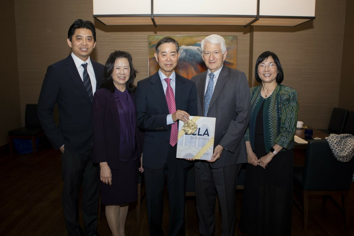 Yang family with chancellor