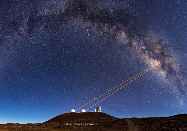 Keck telescopes on Mauna Kea
