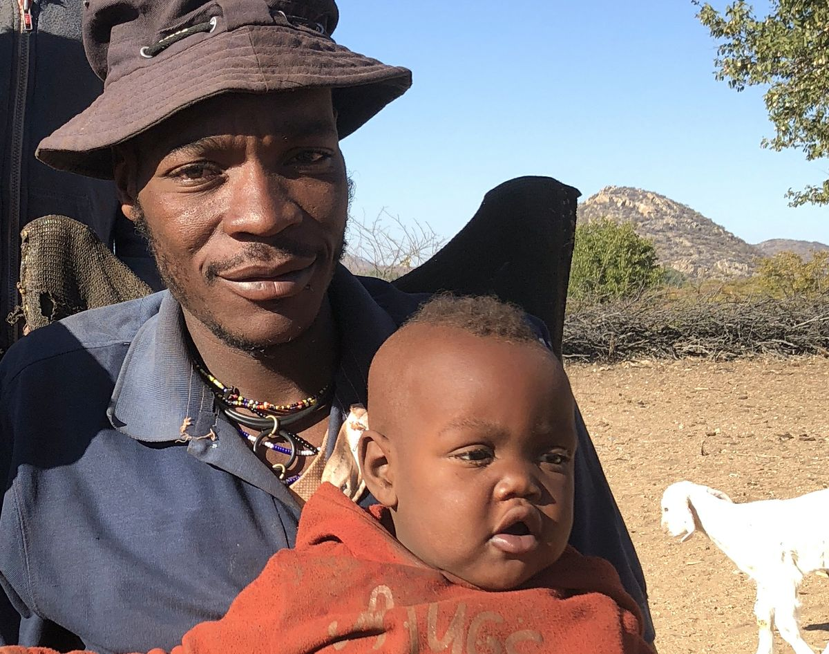 Himba father and child