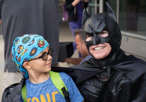 Click to open the large image: Superhero window washers 2019 Batman