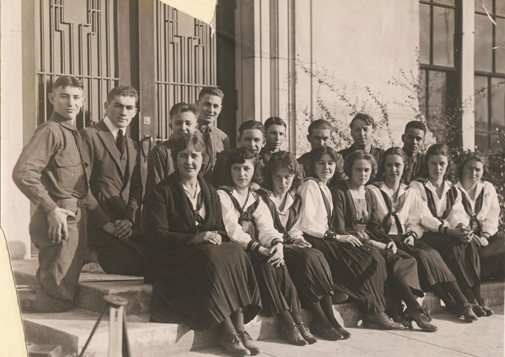 Ralph Bunche with his Jefferson High School graduating class
