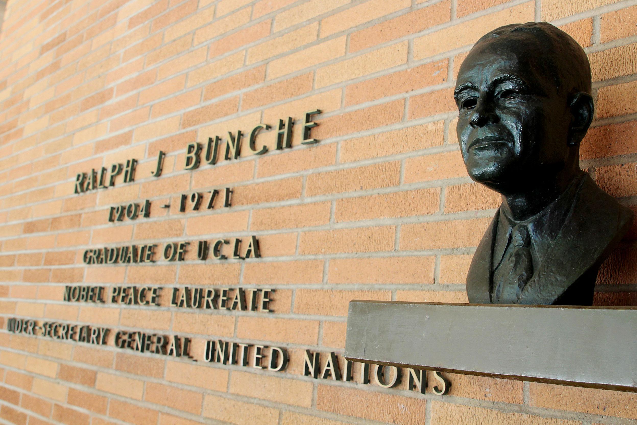 Ralph Bunche bust
