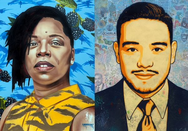 Portraits of Patrisse Cullors and Luis Perez