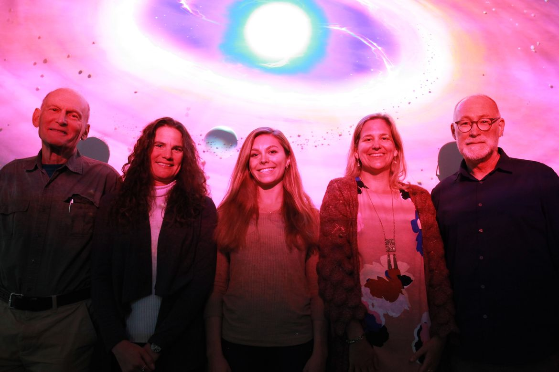 Benjamin Zuckerman, Beth Klein, Alexandra Doyle, Hilke Schlichting, Edward Young photo left to right