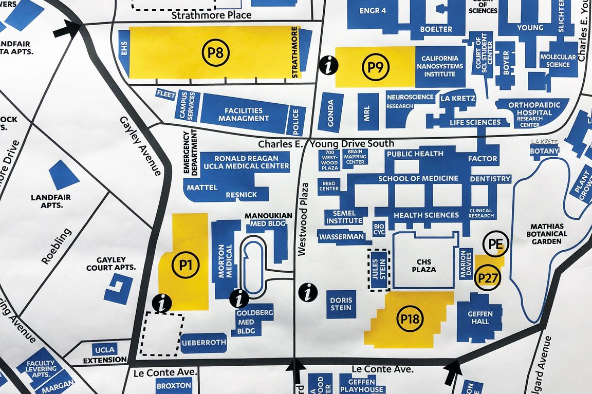 ucla campus map parking Parking Structure 18 Partially Reopened Ucla