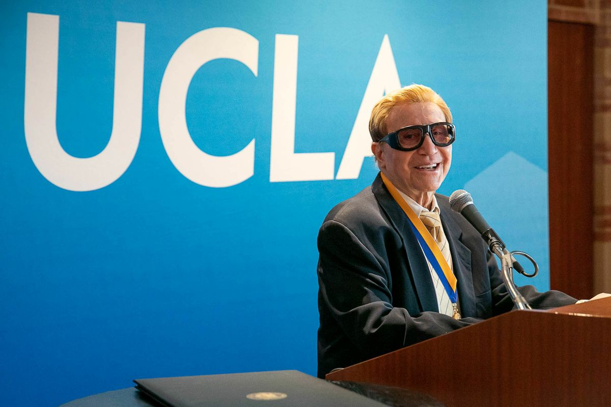 John Rechy with UCLA Medal