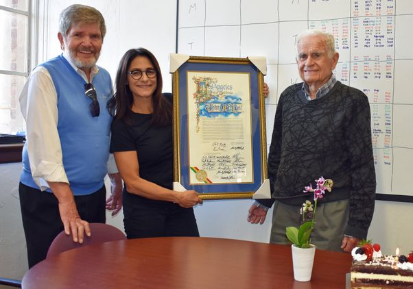 UCLA prof John McNeil turns 100