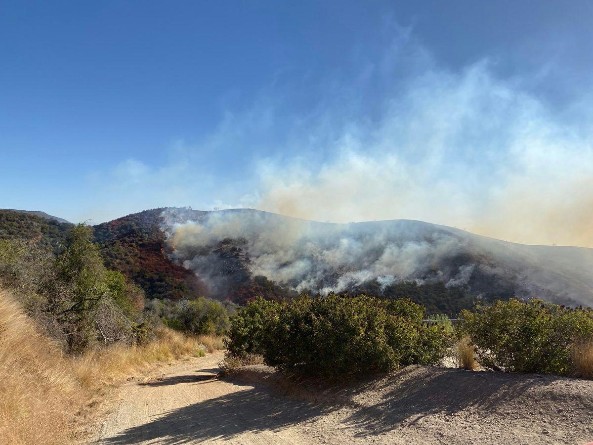 Smoke from Getty Fire