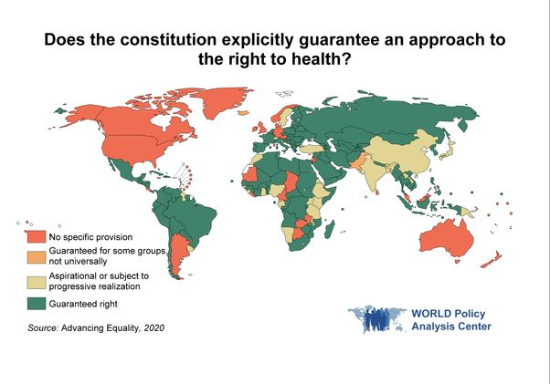 Right to health map