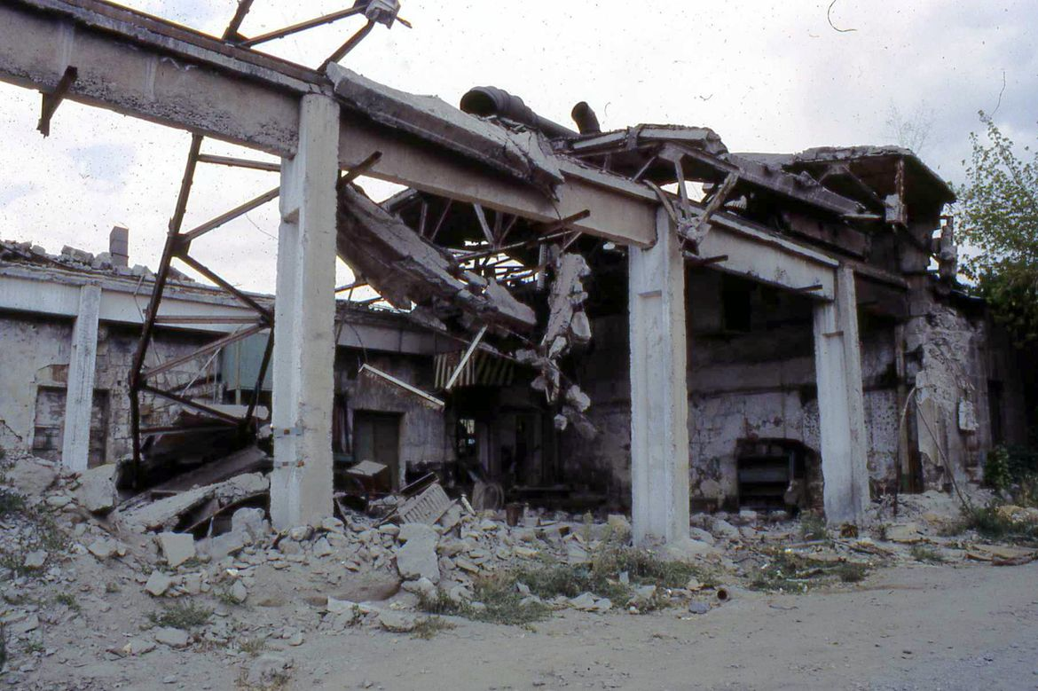 Earthquake damage Gumri