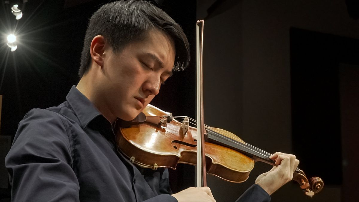 Elvin Hsieh with Stradivarius