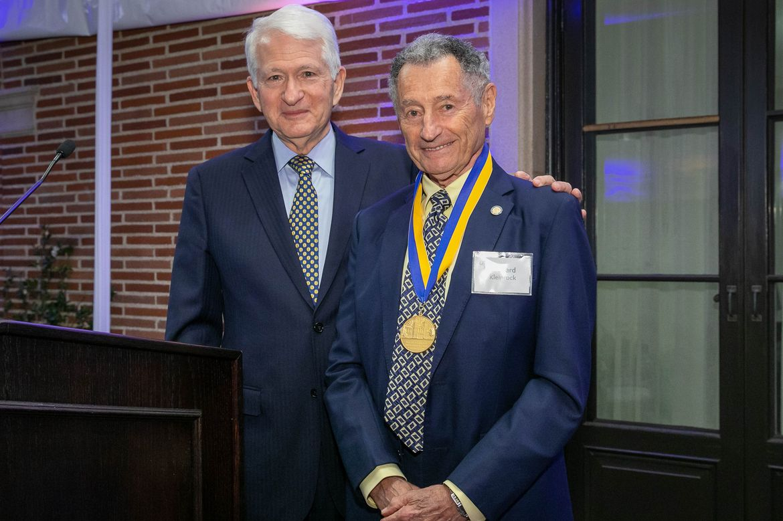 Chancellor Gene Block and Leonard Kleinrock