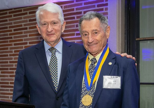 Chancellor Gene Block and Leonard Kleinrock