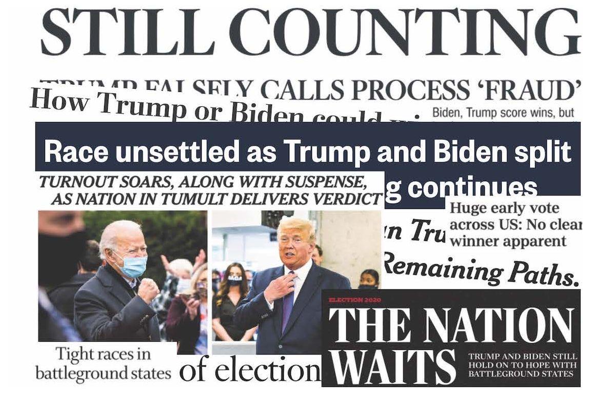 Election headline collage