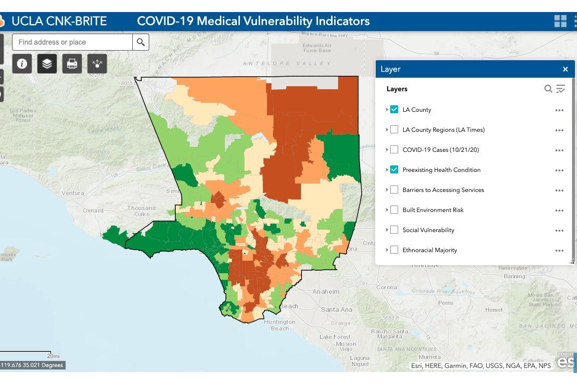 UCLA COVID Map Model