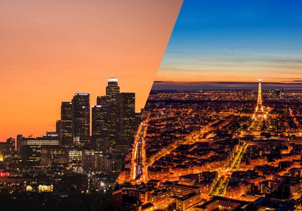 LA and Paris