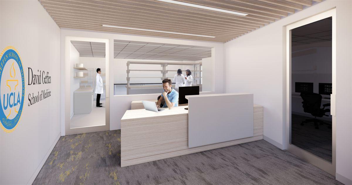 Lab reception area