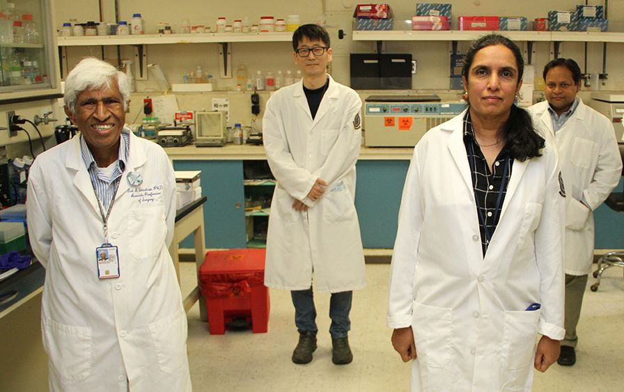 Research team in lab