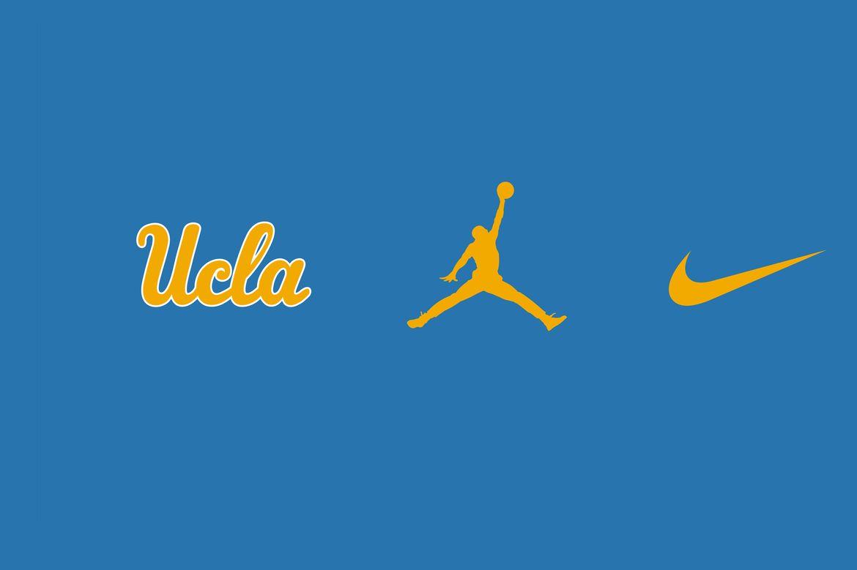 UCLA Jordan Nike logos