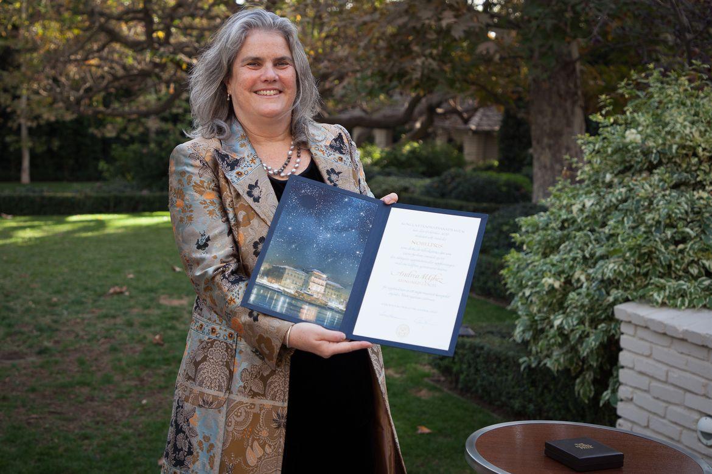 Andrea Ghez with Nobel citation