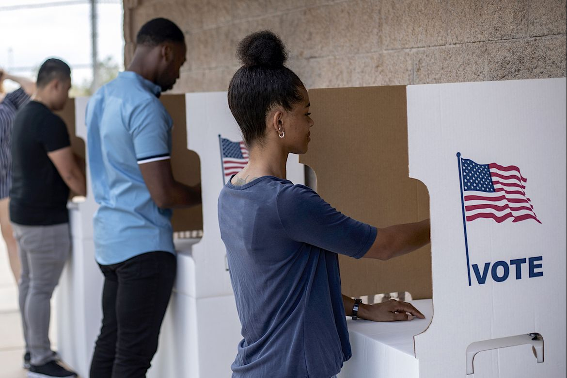 Voters at the polls