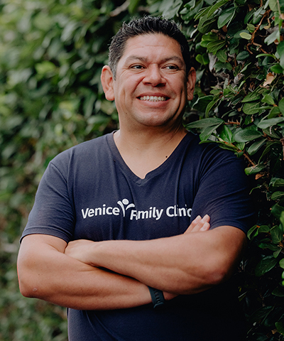 Rigoberto Garcia, the Clinic's director of health education, helps incorporate food and nutrition into a patient's overall health care.