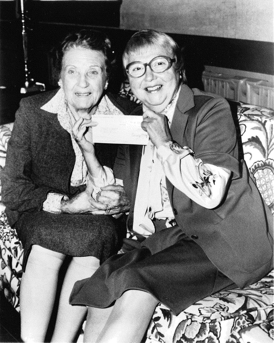 Mimi Perloff and Blanche Witherspoon