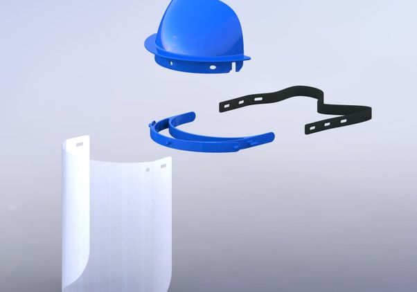 Reusable face shield components