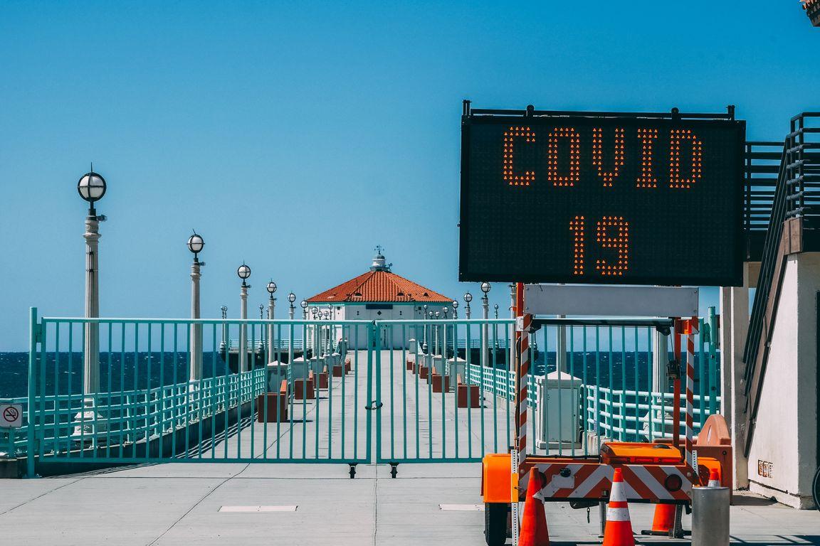 Pier closed-COVID 19