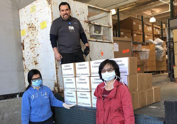 Donated masks