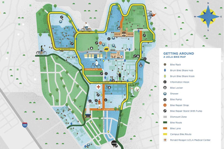 UCLA Bike Map