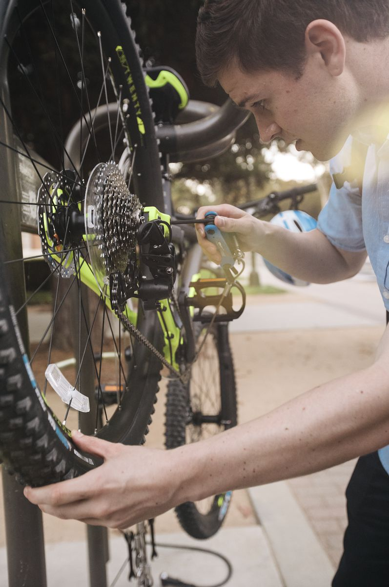 UCLA bike repair stands