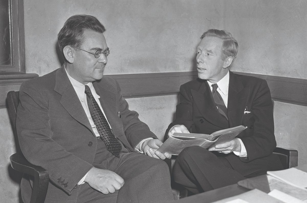 Hans Reichenbach, at left, helped establish the philosophy department at UCLA.