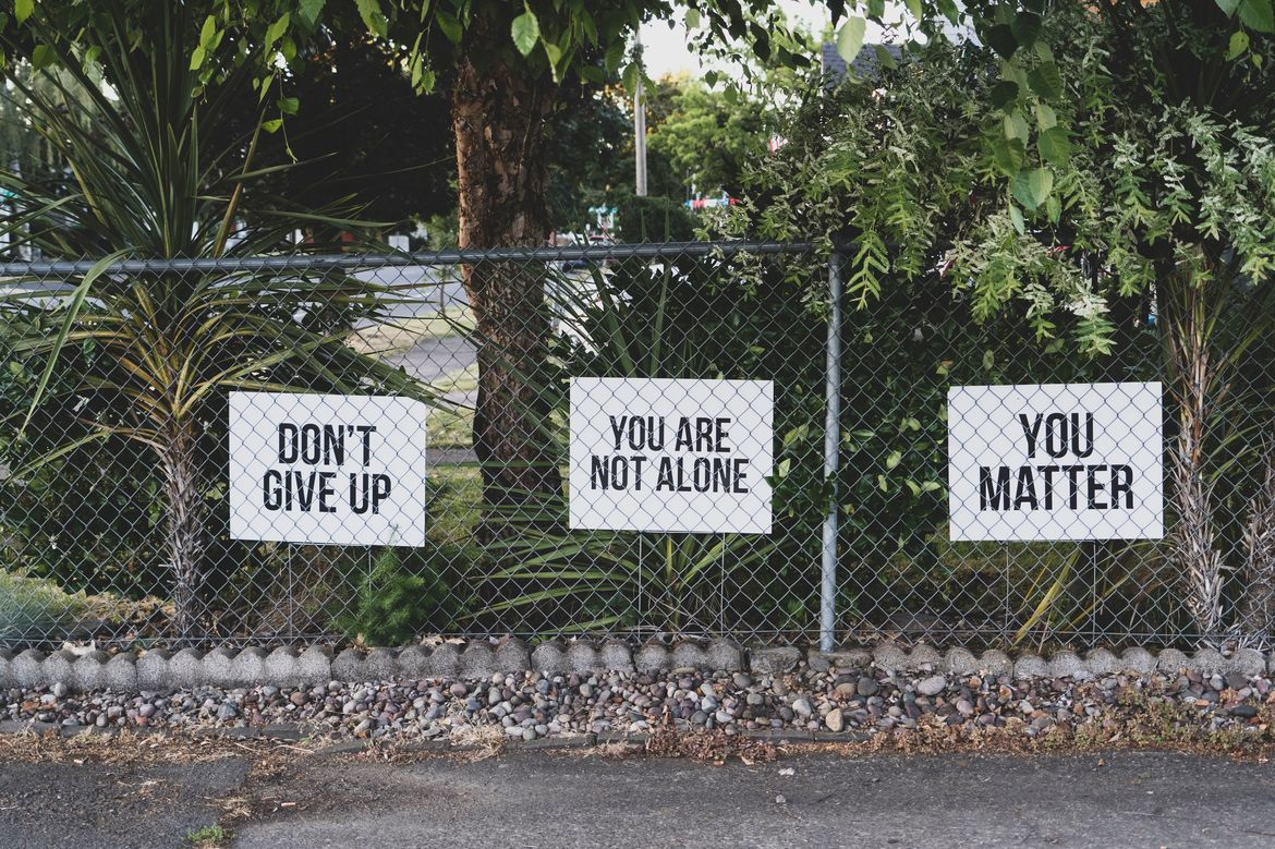 Dont give up signs