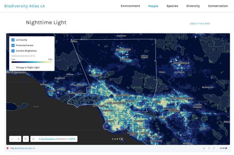 Biodiversity atlas light map