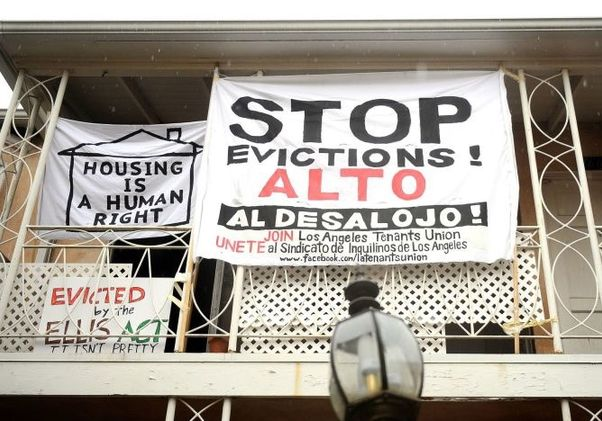 Stop evictions sign