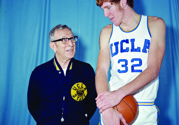 John Wooden with Bill Walton