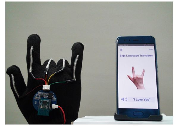ASL sensor glove photo 2
