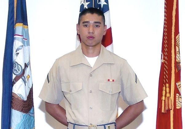 James Tran in the Marines
