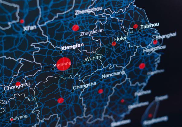 China coronavirus map